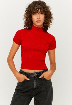 STEHKRAGEN - Print T-shirt - red