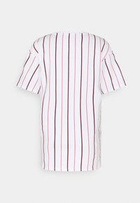 Karl Kani - SMALL SIGNATURE PINSTRIPE TEE - T-shirt med print - white - 8
