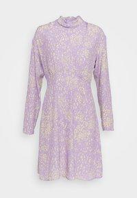 Closet - HIGH NECK MINI DRESS - Korte jurk - purple - 3