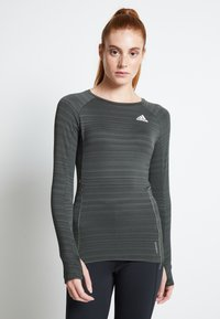 adidas Performance - ADI RUNNER - Sports shirt - olive - 0