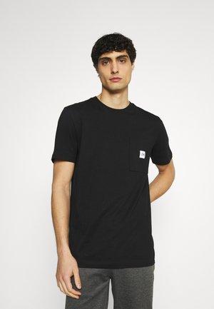 SLHENZO POCKET O NECK TEE - T-shirt basique - black