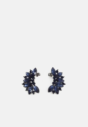 PCDERK EARRINGS - Øredobber - gunmetal/blue