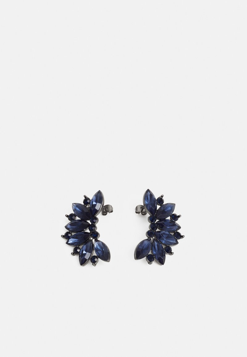 Pieces - PCDERK EARRINGS - Kolczyki - gunmetal/blue