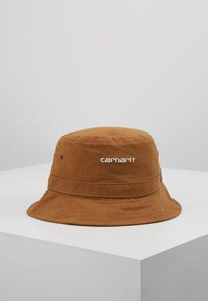 SCRIPT BUCKET HAT UNISEX - Chapeau - hamilton brown/white