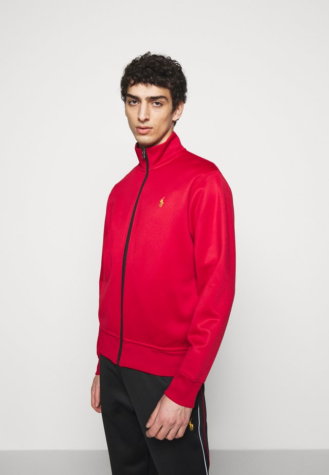 TRACK - Zip-up sweatshirt - red