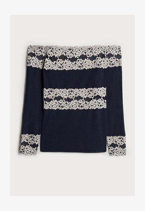 PRETTY FLOWERS - Long sleeved top - multifarben - 347i - blu intenso/vanilla