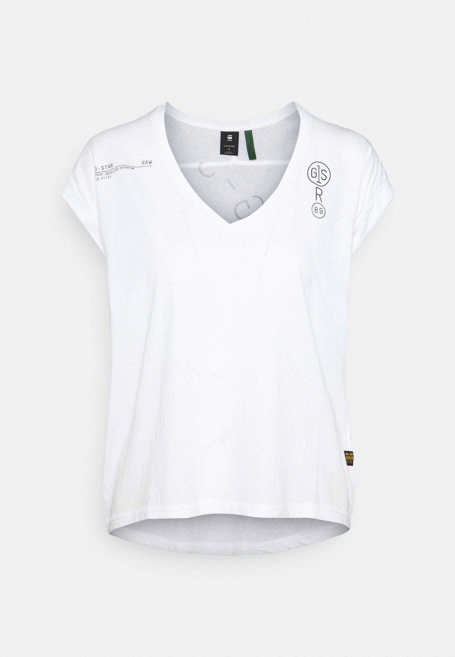 Women BACKPRINT LOOSE V NECK - Print T-shirt