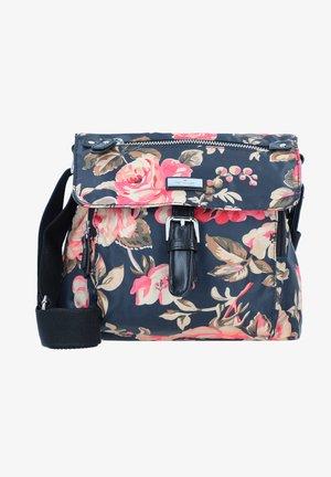 Across body bag - flower black