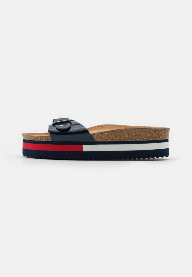 FLAG OUTSOLE MULE - Muiltjes - twilight navy