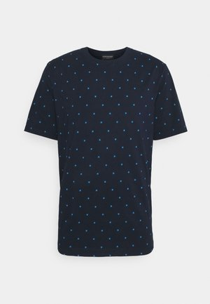 CLASSIC PATTERNED CREWNECK - Print T-shirt - dark blue
