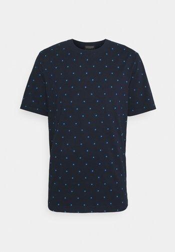 CLASSIC PATTERNED CREWNECK - T-shirt med print - dark blue