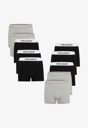 10 PACK - Boxerky - grey/ black