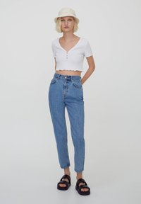 PULL&BEAR - MOM - Relaxed fit jeans - dark blue - 1