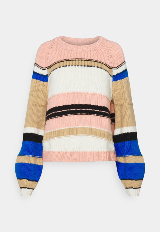 STRIPE RAGLAN - Pullover - mellow rose
