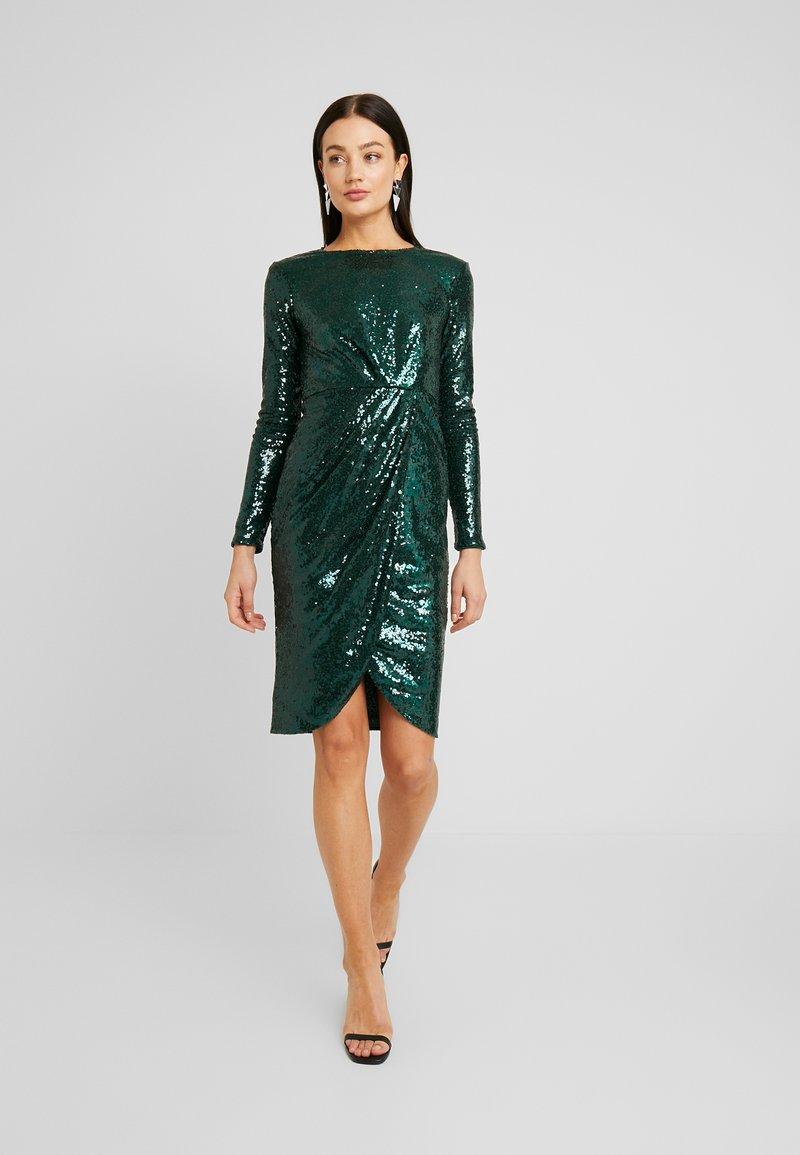 padded sequin dress - cocktailkleid/festliches kleid - green