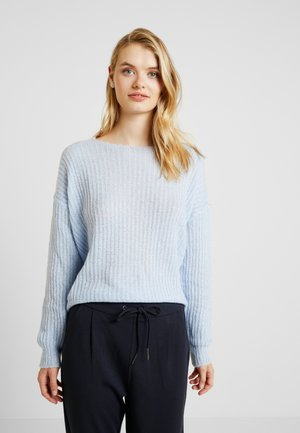DEEP V BACK JUMPER - Jumper - pale blue