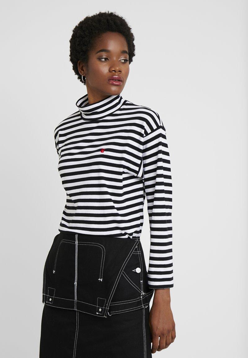 Carhartt WIP - HALDON - Long sleeved top - black/white/cardinal