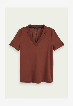 Basic T-shirt - island brown