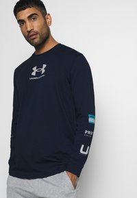 Under Armour - MULTI LOGO - Long sleeved top - academy/halo gray - 3