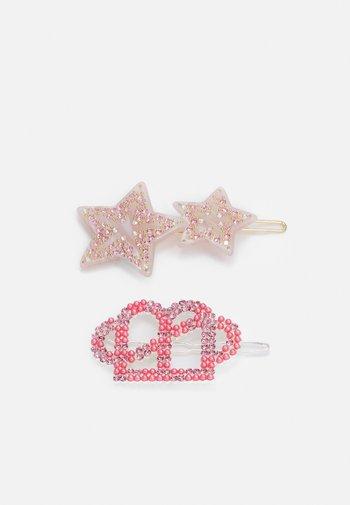 MIX SET - Hair styling accessory - light grey/fuchsia pink