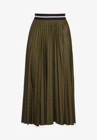 Esprit - MIT ELASTIK-BUND - A-line skirt - khaki green - 5