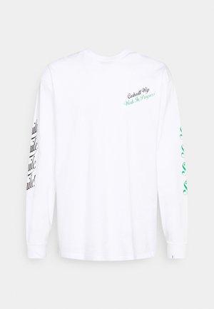 SMILE - Pitkähihainen paita - white