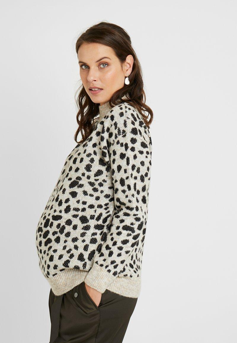 Dorothy Perkins Maternity - STEP HEM CHEETAH JUMPER - Stickad tröja - camel