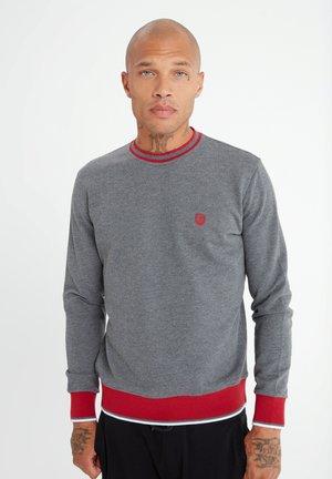 MIT UNIFARBENEM STOFF - Sweatshirt - anthrazit