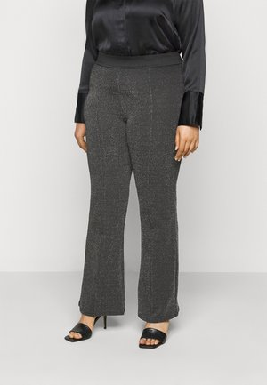 CARMEGHAN PANTS - Trousers - black/silver