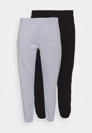 JOGGER 2 PACK - Tracksuit bottoms - black/grey
