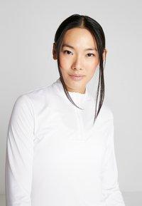 Nike Golf - DRY VICTORY HALF ZIP - Funkční triko - white - 3