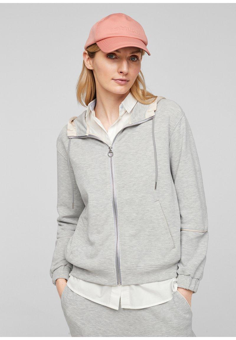 s.Oliver - Zip-up sweatshirt - gray
