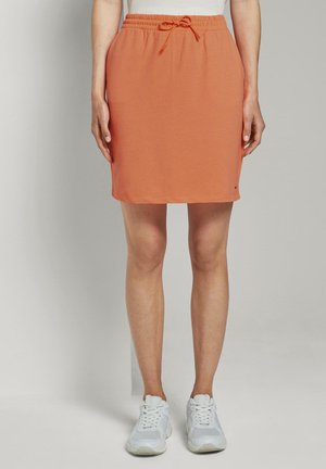 Mini skirt - dark papaya neon orange