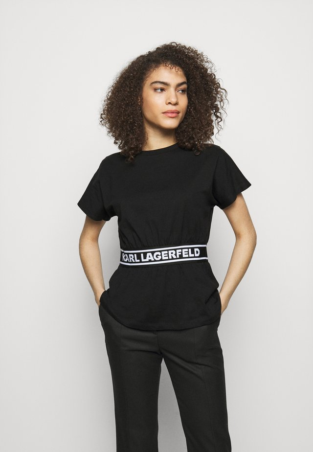 LOGO TAPE - Haut de pyjama - black