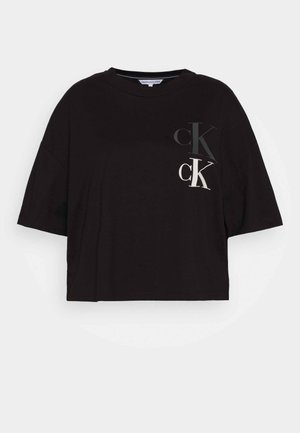 OVERSIZED TEE - T-shirt imprimé - black