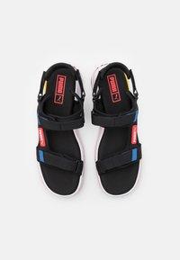 Puma - FUTURE RIDER UNISEX - Walking sandals - black/star sapphire/poppy red - 3