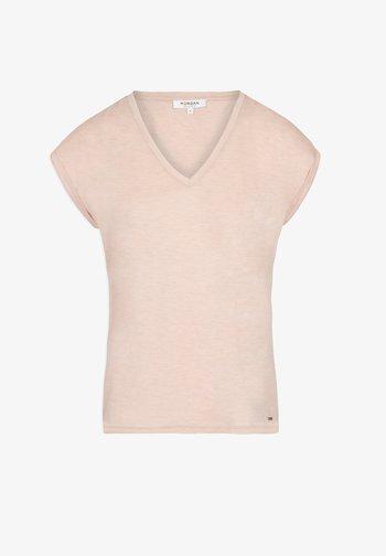 Print T-shirt - mottled rose
