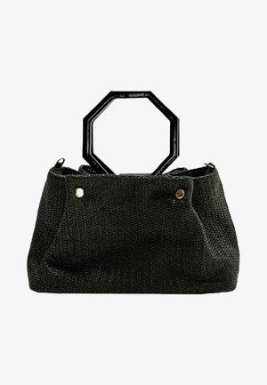 MIT GEOMETRISCHEM GRIFF  - Handbag - black