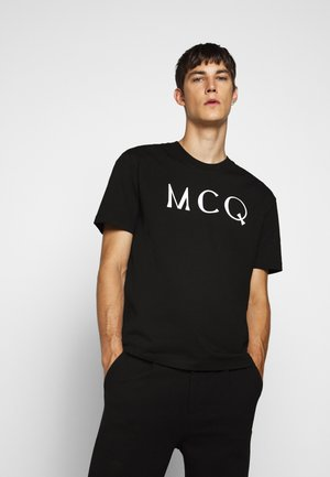 DROPPED SHOULDER - Print T-shirt - darkest black
