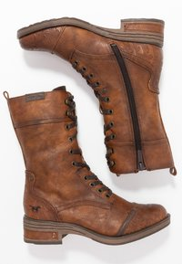Mustang - Lace-up boots - cognac - 3