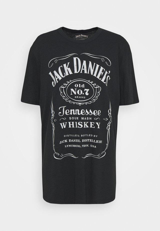 JPRBRANTLY TEE CREW NECK - T-shirt con stampa - caviar