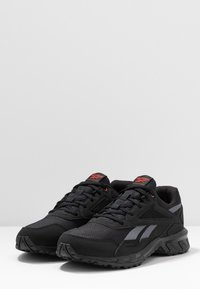 Reebok - RIDGERIDER 5.0 - Obuwie do biegania Szlak - black/radian red/pure grey - 2