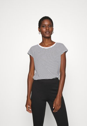 STRIPE TEASY - Camiseta estampada - white/black