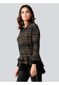 Alba Moda - Sweatshirt - schwarz,camel - 0