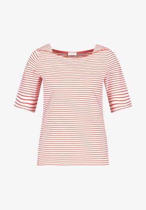 1/2 ARM - T-shirt imprimé - ecru/weiss/rot/orange ringel