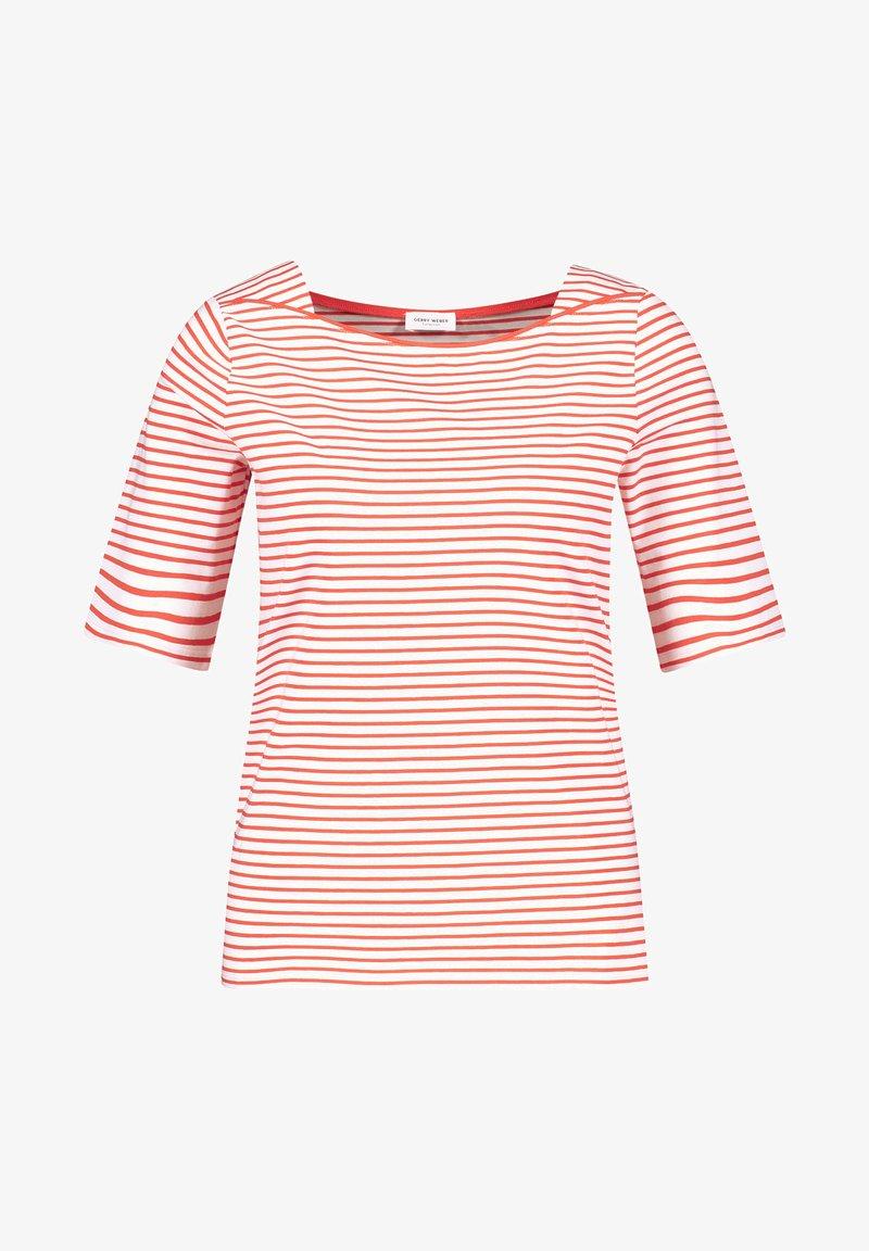Gerry Weber - 1/2 ARM - Print T-shirt - ecru/weiss/rot/orange ringel