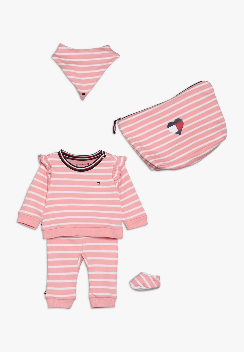 Tommy Hilfiger - BABY RUGBY STRIPE GIFTPACK SET - Foulard - pink icing