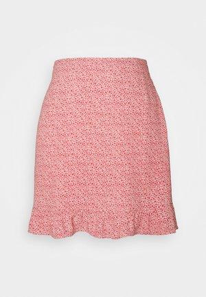 RUFFLE SKIRT - Mini skirt - red