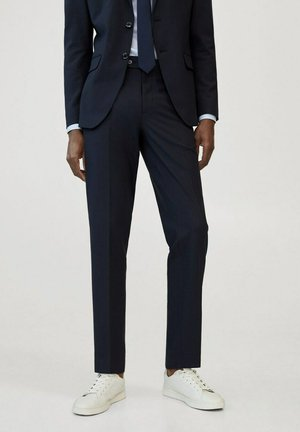 TRAVEL - Suit trousers - bleu marine