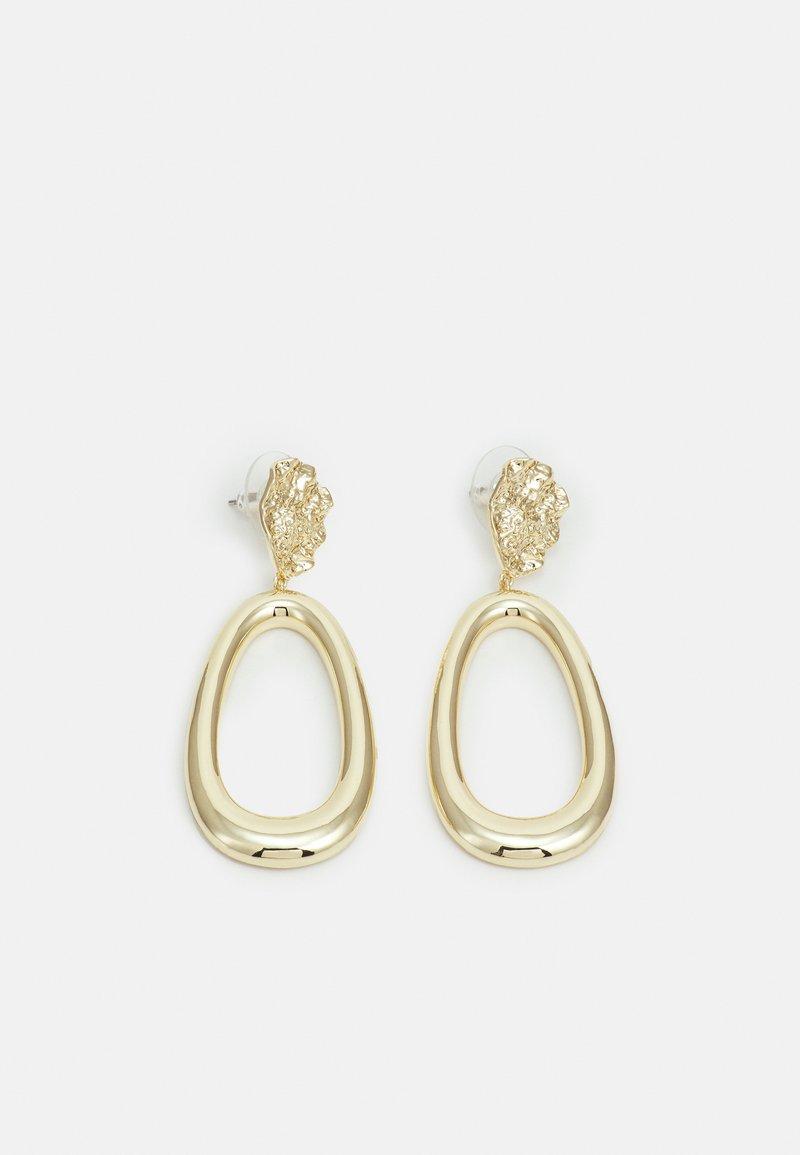 SNÖ of Sweden - RUE BIG PENDANT EAR - Earrings - gold-coloured